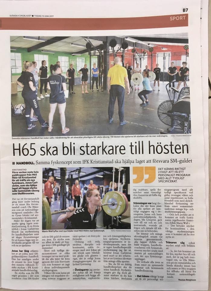 Skånska Dagbladet sid B7 20170613